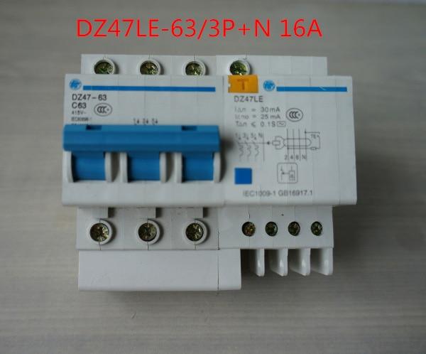 Earth Leakage Protection Circuit Breaker DZ47LE-63 3p+N 60A 380V-415v CAPT2011