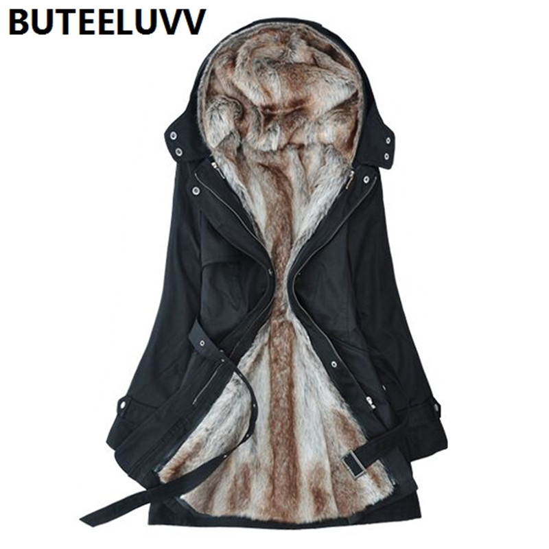 Women Hooded Thick Parka 2016 New Winter Coat Multifunction Cotton Jacket for Female Wool Liner Outerwear