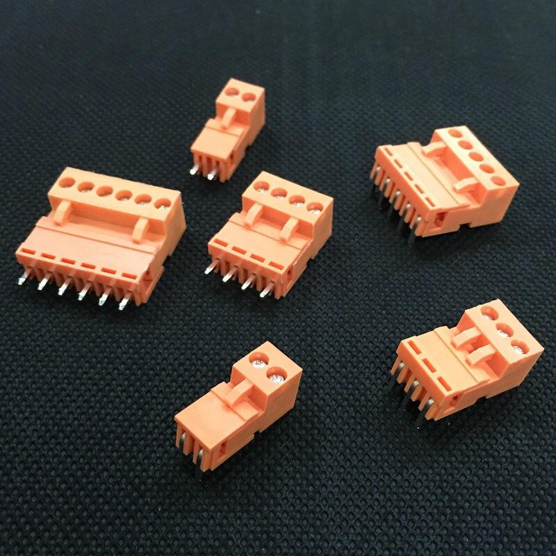Розетка и гнездо для розетки, оранжевая, HT3.96, 5P, 10 комплектов