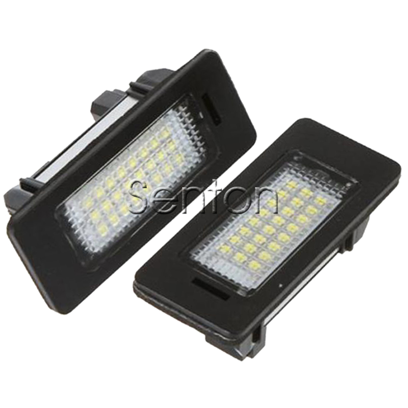 2x 12V License Plate Lights SMD3528 LED Lamps For BMW E39 E90 E60 Sedan M5 E70 X5 E71 E72 X6 E82 E81 E88 E91 E92 Car Accessories