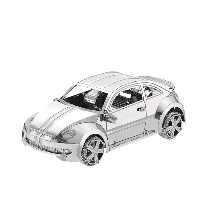 Toy 3D Metal Model Sports Car Educational  Model Set DIY Laser Cut Stainless Steel Adult Puzzle Collection