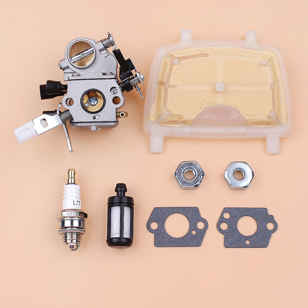 Carburetor Gasket Air Filter Kit For STIHL MS171 MS181 MS211 MS211C Replace ZAMA C1Q-S269 Chainsaw Chain Saws