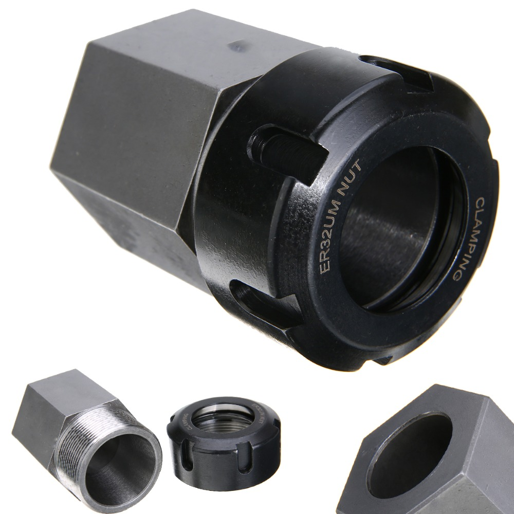 1 pc 65mm ER32 Hex Printemps Chuck Collet Titulaire Argent Noir Pour Tour CNC Machine De Gravure