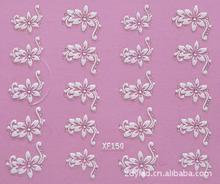 กันน้ำWater Transfer Nailsสติกเกอร์ศิลปะแฟชั่น3Dดอกไม้สาวออกแบบผู้หญิงเล็บเครื่องมือเล็บWraps Decals XF150