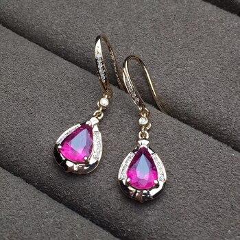 factory wholesale SGARIT brand new fashion 18k real gold Amethyst natural gemstone Imbue Diamond stud earrings jewelry 5