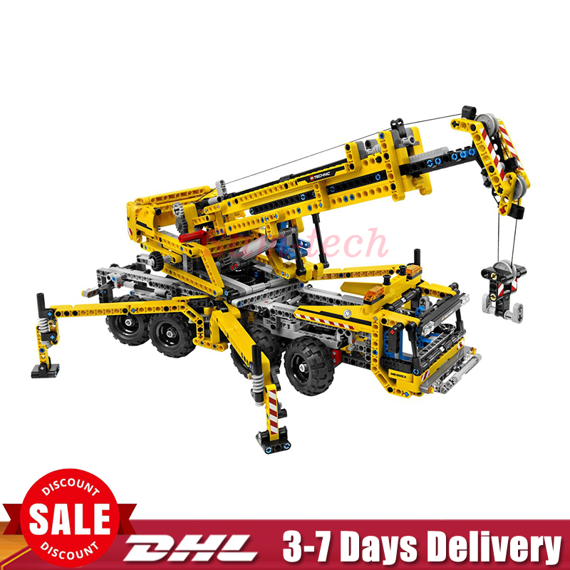 IN Stock 2017 Lepin 20040 Technic Mechanical Series The Moving Crane Educational Building Blocks Bricks Toys Model Gift 8053 in stock lepin 02012 774pcs city series deepwater exploration vessel children educational building blocks bricks toys model gift