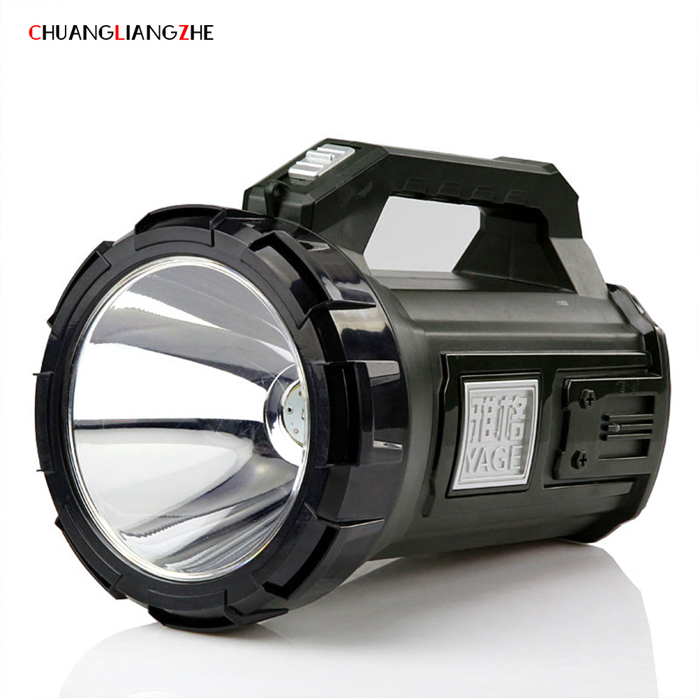 CHUANGLIANGZHE Portable Searchlight Lantern Rechargeable Waterproof Portable Outdoor Lighting Flashlight Spotlight Camping Lamp led portable spotlight searchlight 4000mah rechargeable handheld work light cree 10w portable lantern for camping flashlight