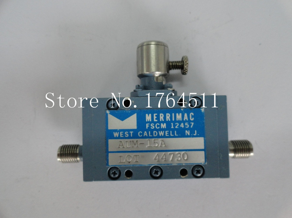 [BELLA] MERRIMAC AUM-15A 1-8GHz 0-20dB Hand Adjustable Continuation Variable Attenuator