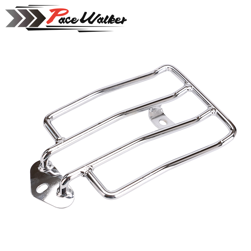 FREE SHIPPING Motorcycle Raider Black Luggage Rack Support Shelf Fit For Stock Solo Seat Harley Sportster 883 1200 77-0073B motorcycle solo seat luggage rack suitable for harley davidson sportster xl883 1200 xl48 silver