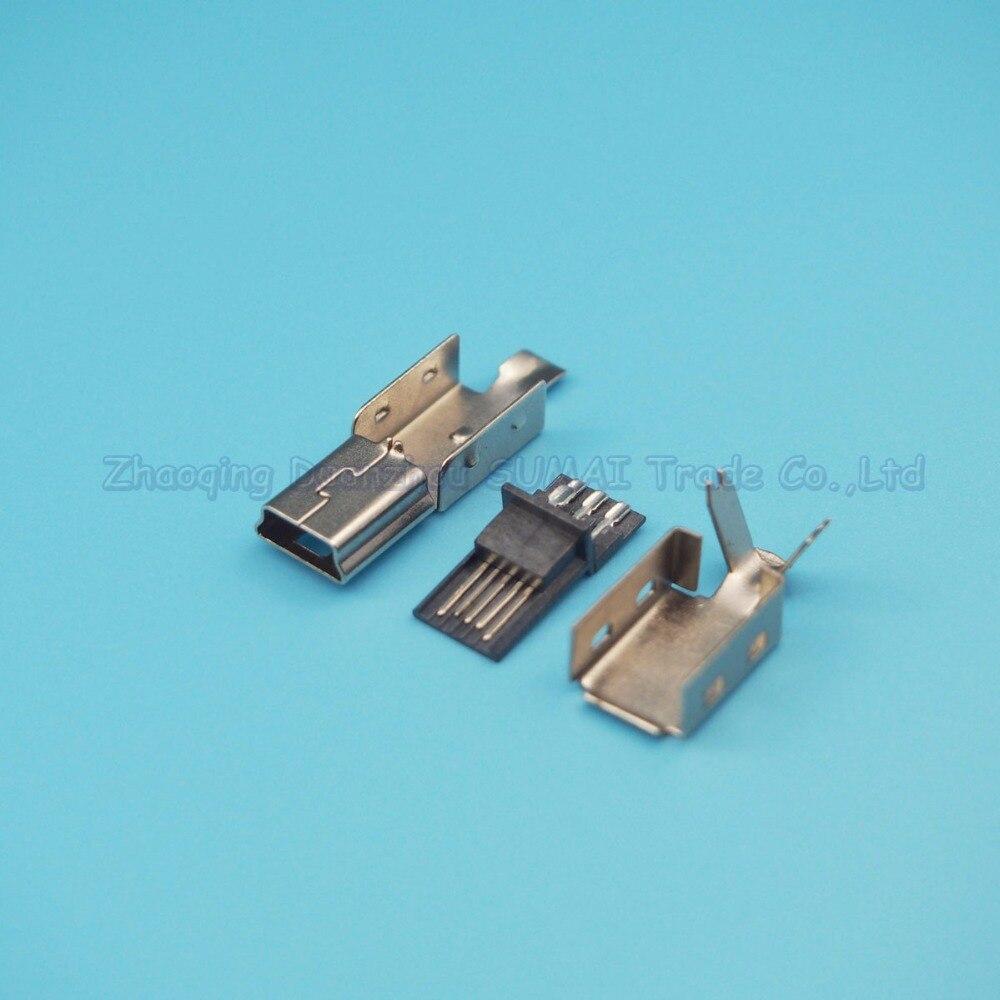 DIY 3 в 1 сварки тип провода Mini USB 5 P разъем зарядное устройство штекер Mini USB-5P plug