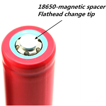 18650 gasket flat tip becomes strong small magnet flashlight battery spacer