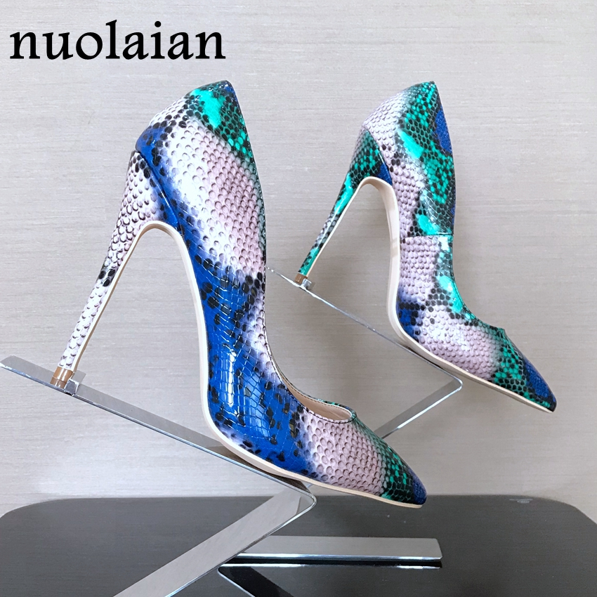 8/10/12CM Brand Women Shallow Pump Basic Shoes Woman Pumps Sexy Party Wedding Shoe Ladies High Heels Lady Snake Platform Sandals brand design womens high heels shallow pump shoes woman sexy wedding pumps women high heel shoes thin heels party dress platform