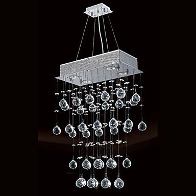 Crystal Modern LED Pendant Light Lamp With 4 Lights For Living Dinning Room, Lustre De Cristal Sala E Pendentes Luz noosion modern led ceiling lamp for bedroom room black and white color with crystal plafon techo iluminacion lustre de plafond