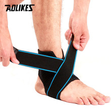 AOLIKES 1PCS Ankle Support Brace Compression Sleeve with Adjustable Strap for Women Men Ankle Wrap Football Basketball Running