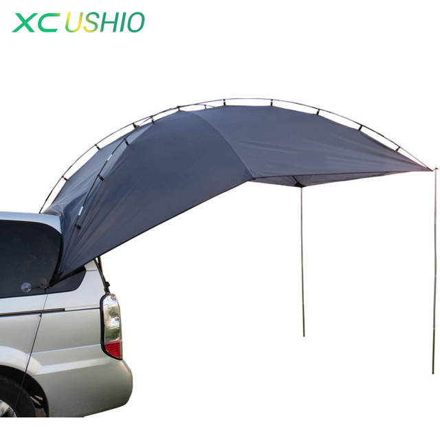 Outdoor Folding Car Tent Camping Shelter Anti-UV Waterproof Car Awning Tent Picnic Sun Shelter Beach for 5-8 Persons