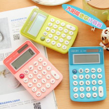 2017 hot selling 8 New Student Mini deli Electronic Calculator Candy Color Calculating Office Supplies Gift