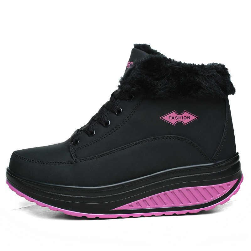 Новинка; модные женские ботинки; зимние женские теплые бархатные ботинки с хлопковой подкладкой; плюшевые ботильоны на меху; женские Ботинки на каблуке со шнуровкой