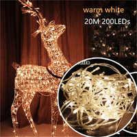 20 m 200 Led String di Natale Ghirlanda Di Natale Albero di natale Fata Luce AC110V/220 v Luce Impermeabile Per La Casa Garden Party All'aperto decorazione di festa