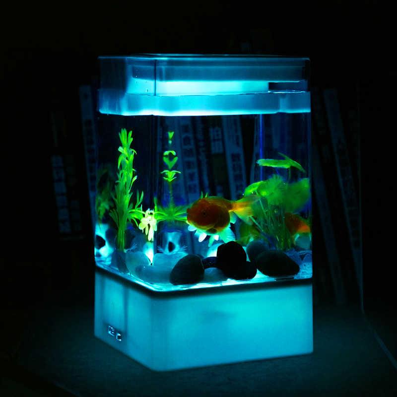 Novice Plastic Mini Desktop Fish Tank