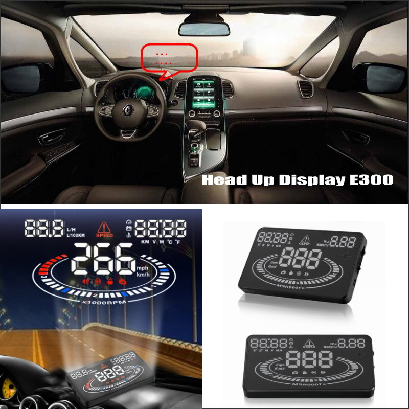 Car HUD Head Up Display FOR Renault Espace 4 2003~2014 - Can increase security Reflect car Driving data onto windshield car hud head up display for vw beetle 2003 2010 show your car information onto windscreen to avoid speeding infringements