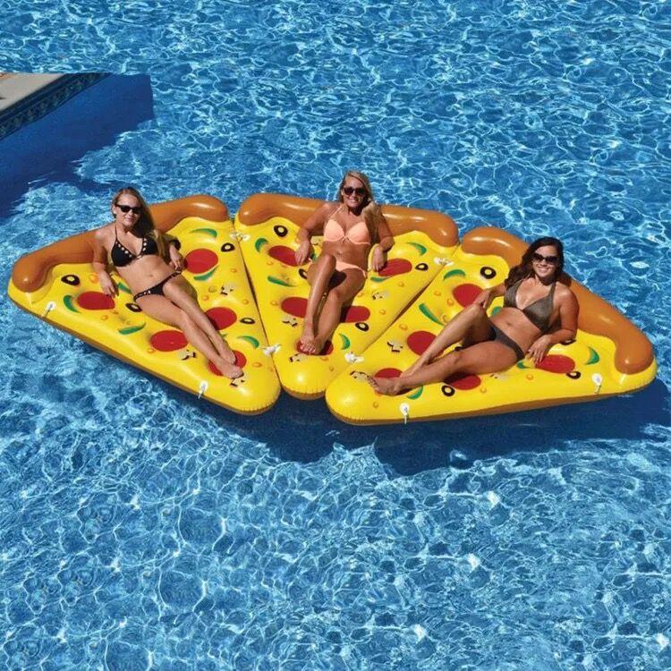 180*150 cm pizza rangée couleur lit flottant anneau bébé de natation piscine À Manger Poussette Infantile Portable Tapis de Jeu De jeu canapés Apprennent Tabouret - 3