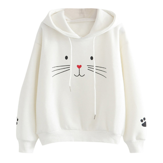 brixini.com - Harajuku Cat Face Hoodies