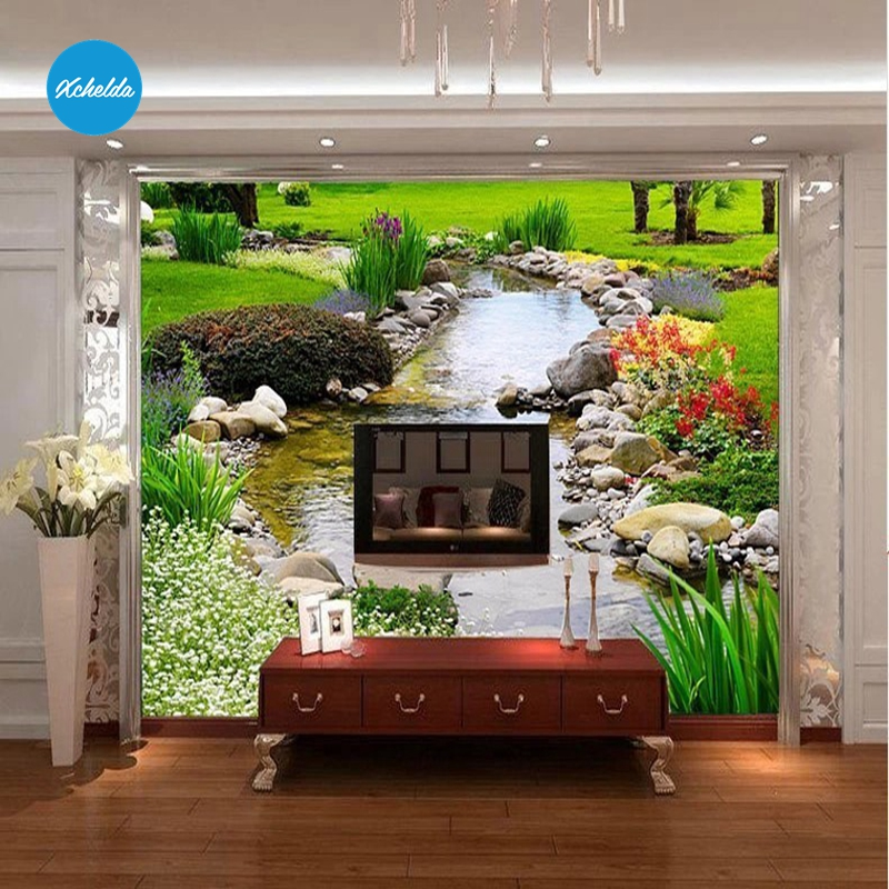 XCHELDA Custom 3D Wallpaper Design Brook Photo Kitchen Bedroom Living Room Wall Murals Papel De Parede Para Quarto kalameng custom 3d wallpaper design street flower photo kitchen bedroom living room wall murals papel de parede para quarto