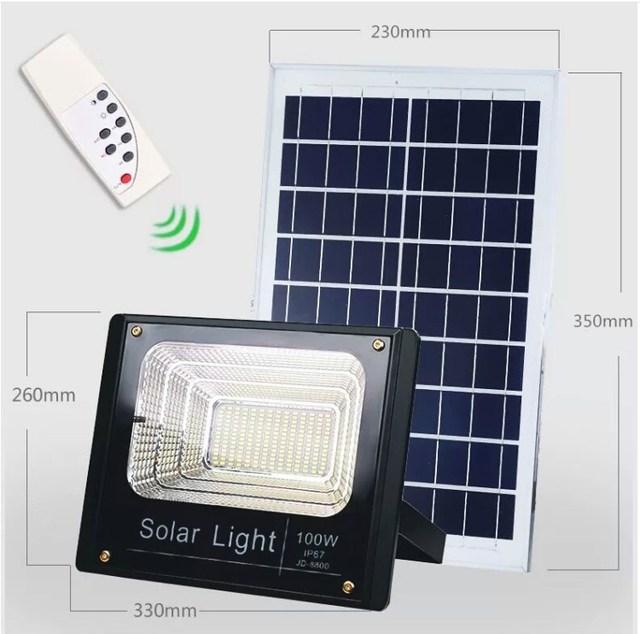 8PCS Solar LED Light Spotlight 10W/25W/40W/60W/100W/120W Light Control Floodlight Tuinverlichting Street Lamp Waterproof IP67