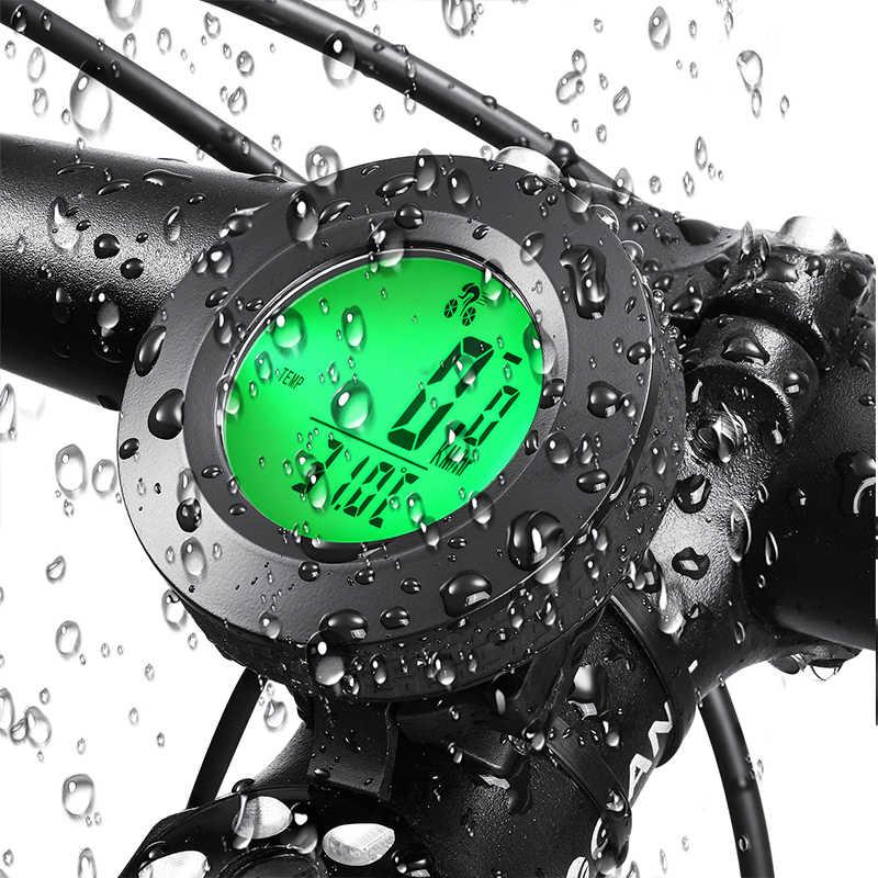 Diodo emissor de luz Computador de bicicleta bicicleta Velocímetro velocimetro power medidor de velocidade Inglês Computador ciclo Acessórios da bicicleta À Prova D' Água