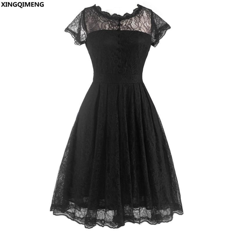 In Stock Cheap Simple Little Black Dress Lace Short Cocktail Dresses