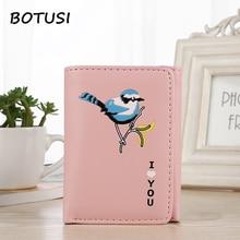 BOTUSI Lucky Bird Mini Envelope Wallet Women Small Wallet Purse Small Clutch Female Wallets Coin Purse Credit Card Holder