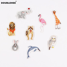 DOUBLEHEE Patch Mammals Embroidered Iron On Patches Cartoon Style Design Fashion Embroidery DIY Coat Shoes Accessories