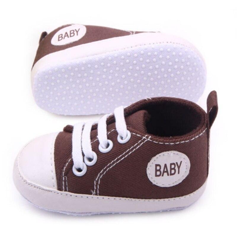 0-12 M Baru Lahir Balita Sepatu Kanvas Bayi Laki-laki Perempuan - Sepatu bayi - Foto 3