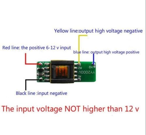 High-voltage Power Boost Step-up Module DC 6V-12V To 1000V 1500V Generator Board