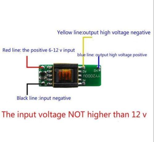 High-voltage Power Boost Step-up Module DC 6V-12V to 1000V 1500V Generator BoardHigh-voltage Power Boost Step-up Module DC 6V-12V to 1000V 1500V Generator Board