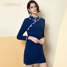 Autumn And Winter 2017 Women Cashmere Sweater Double Sleeve Free Collar Heaps Neck Pullover Long Knit Sweater Primer Shirt
