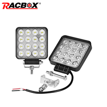 2pcs/lot 4inch 48W LED Work Light Flood 3800LM 10-30V Industry Equipment Farming Offroad Driving Lamp Fishing Camping