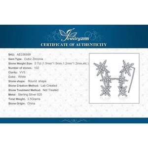 Image 5 - JewelryPalace ستار زركون هوب أقراط 925 فضة أقراط للنساء أقراط الكورية مجوهرات الأزياء 2020
