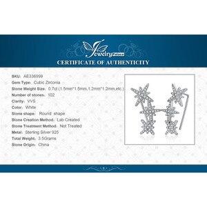 Image 5 - JewelryPalace כוכב מעוקב Zirconia עגילי חישוק 925 עגילי כסף סטרלינג לנשים קוריאני עגילי תכשיטים 2020