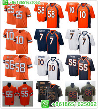 2019 Game Men s Denver Von Miller Bradley Chubb John Elway Emmanuel Sanders  Steve Atwater Chris Harris Jr color rush jerseys 2926a3f05