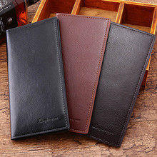 Fashion Men's Wallets Vintage Look Long Wallet PU L