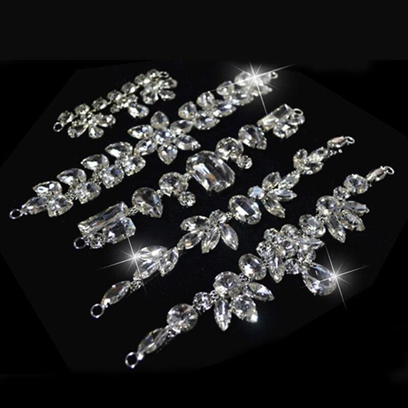 12 style Klarem Kristall Nähen Taille Hochzeitskleid Desinging Nähen Auf Hohe Qualität Strassapplikationen Für Brautkleid