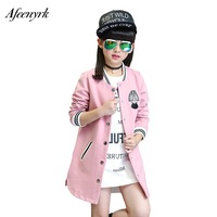 Jackets For Girls 2018 Spring Autumn Children S Jackets School Girls Suit Baseball Long Sleeve Cotton