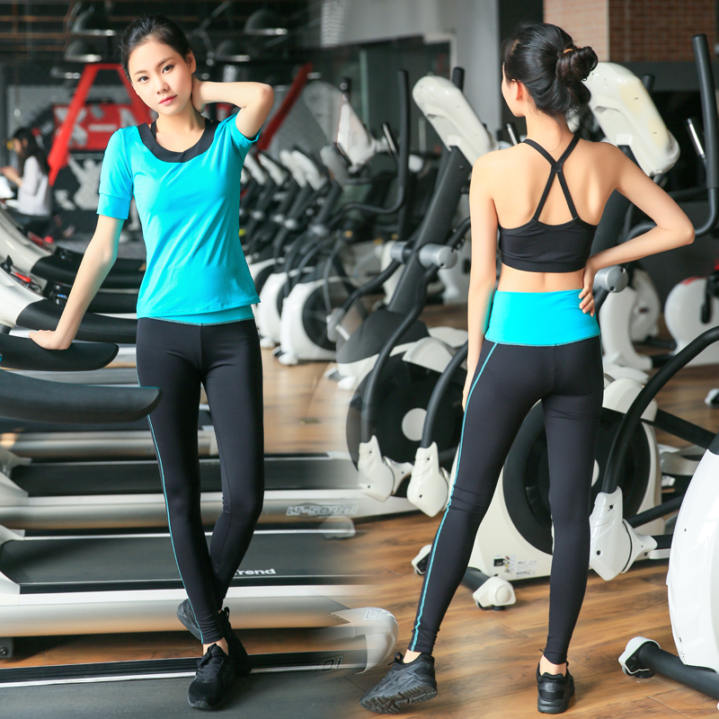 Yoga Set di Tre Pezzi di Usura Delle Donne di Sport Per Le Donne Leggings di Fitness Corsa e Jogging Donna Traspirante Esercizio Vestito di Sport Outdoor