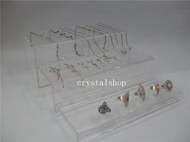 WHOLESALE FREE SHIPPING LONG 3 LAYER  TRANSPAREN  ACRYLIC DISPLAY RISER SHOWCASE STAND,SHOES DISPLAY STAND ,STORES DISPLAY STAND