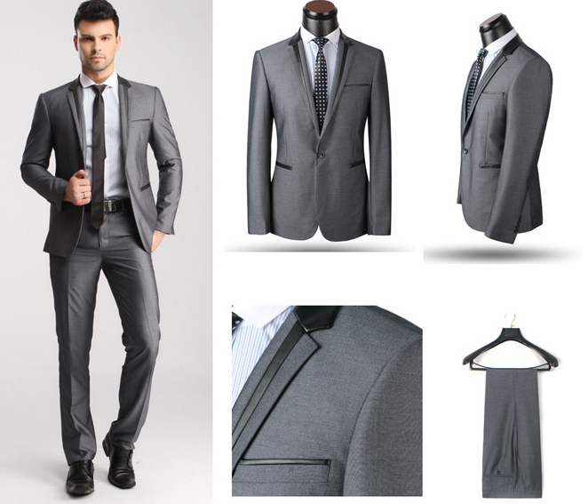 Online Shop New 2015 Italy Style Wedding Suits for Men Hot Selling