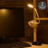 Night Light Clip On For Desk LED Desk And Table Lamp With Mini Fan For Ed