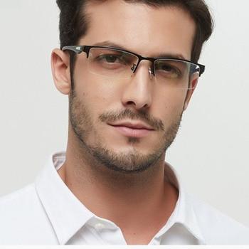 New Sun Photochromic Myopia Eyeglasses Optical Men student Finished Myopia Eyewear prescription Glasses Frame Half Rim -1.0 -4.0