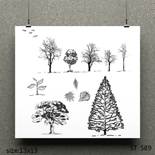 ZhuoAng Forest design stamp / scrapbook rubber craft clear card seamless