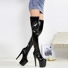 2756ac8e117 Catwoman Cosplay Clubwear Women Shiny High Platform Zipper Boots Night Club  Party Boots Sexy Stripper Club